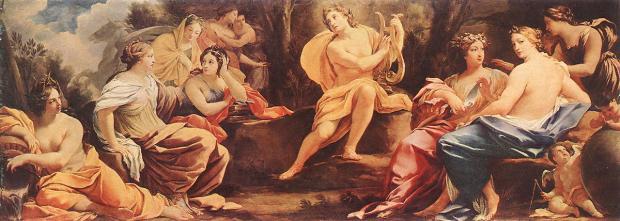 Apollo e as 9 musas
